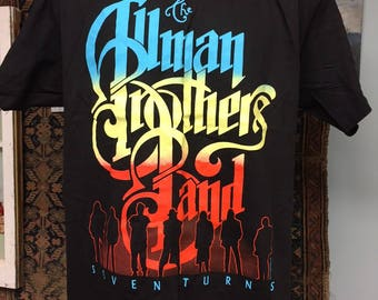 1990 Allman Brothers Band Seven Turns T-Shirt Size XL