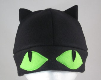 Fleece Black Cat Hat