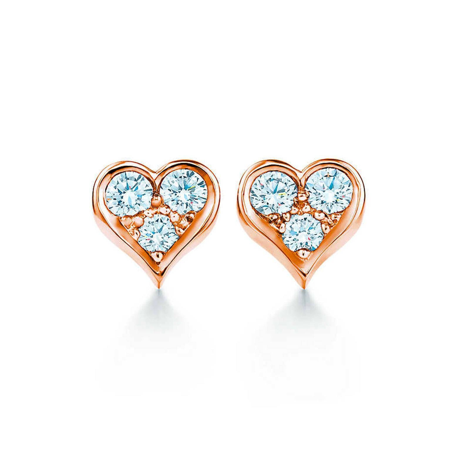 unique sale diamond shape jewellery diamonds wave new heart shaped earrings gold products