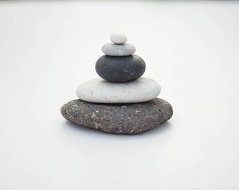 ZEN MEDITATION STACK, flat stacking stones, meditation, anxiety, mindfulness, focus toy, natural decor, fairy garden, nature ornament, rocks
