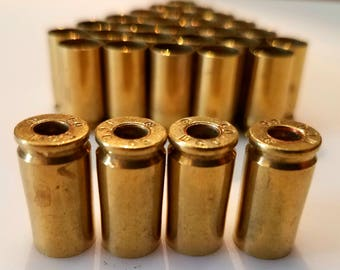 Thirty (30) Used 9mm Brass Bullet Casings. Tumbled Clean, With Primers Removed. Unpolished