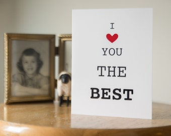 I Love You Best