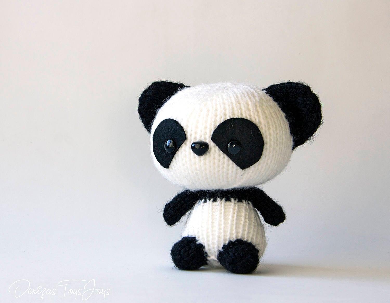 Panda. PDF knitting pattern. Cute kids gift pattern. Kawaii toy ...