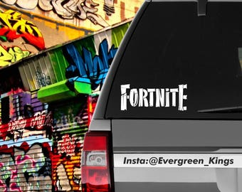 Fortnite Wood Text Decal 6 inch Pick a Color
