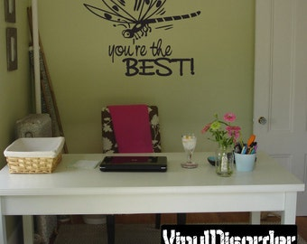 You're the best  - Vinyl Wall Decal - Wall Quotes - Vinyl Sticker -Ct044YouretheviiET