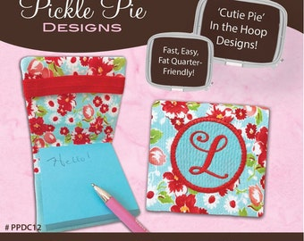 Pickle Pie Designs *MONOGRAMMED STICKY NOTE Holder - #ppdc12