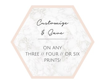 Choose Any Three // Four // or Six Prints and Save! Bestseller.