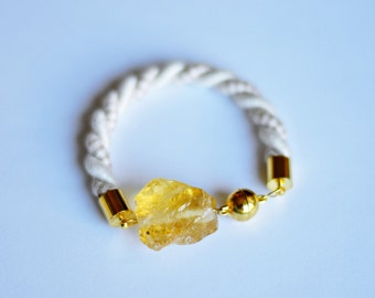 Citrine bracelet, raw crystal, raw citrine bracelet, Citrine Jewelry, November birthstone, yellow bracelet, crystal bracelet, citrine