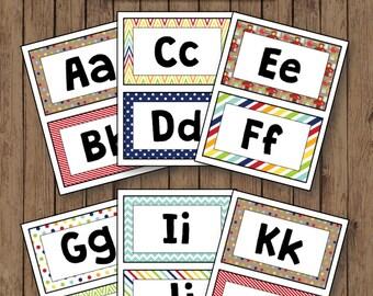 School Days Word Wall Alphabet