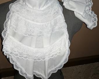 new mens 1800's white lace ruffled renaissance jabot pirate cravat costume collar wrist cuffs
