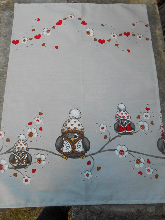 Handtuch Weihnachten Eule Geschirrtuch skandinavische