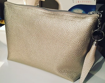 Shimmer gold pouch bag