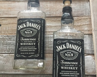 Jack Daniels Bottles lot of 4 for your next DIY project - Empty whiskey bottles -