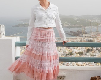 Lace Dusty Pink Skirt