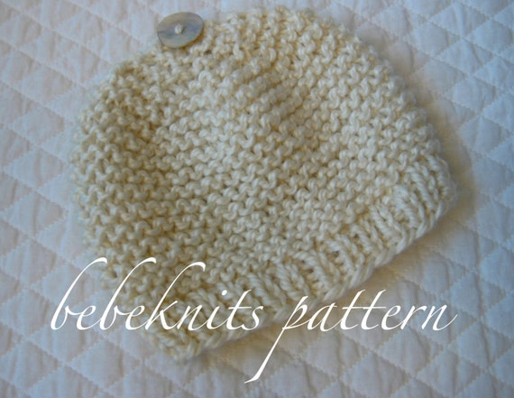 Bebeknits Simple French Style Baby Cardigan Knitting Pattern