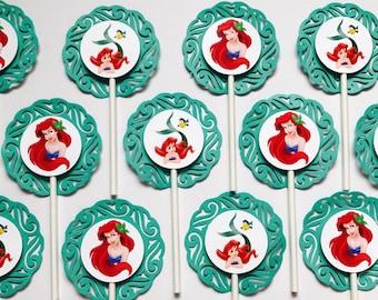 "12 LITTLE MERMAID Ariel Cupcake Topper - Party Picks - DISNEY - (2.5"" diameter)"