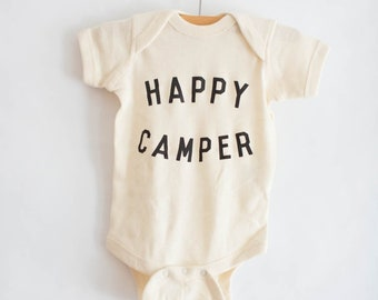 Happy Camper bodysuit by The Bee & The Fox