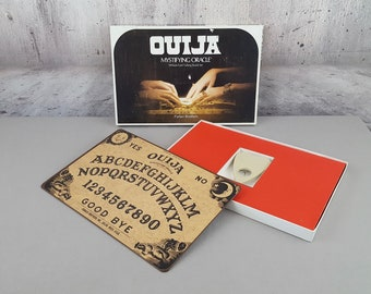 Vintage 1972 Ouija Board William Fuld Talking Board Set with Mystifying Oracle Original Box Seance Spirit Board Haunted Paranormal Activity