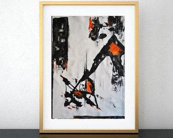 Original modern abstract painting. Original painting, acrylic abstract art. Modern art in high quality canvas laminate.