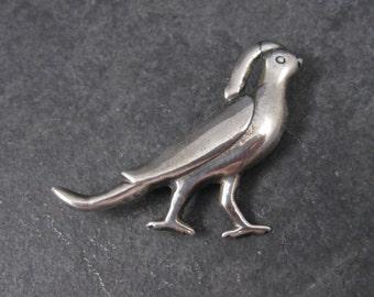 Vintage Mexican Sterling Bird Partridge Brooch