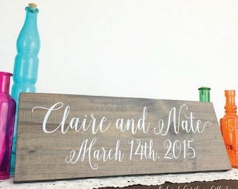 Mr and Mrs Head Table Sign / WEDDING SIGNS / Wedding Signage / Rustic Wedding Signs / Head Table Sign - WS-154