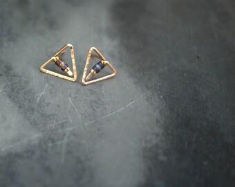 Tiny Minimal Triangle Stud/Post Earrings