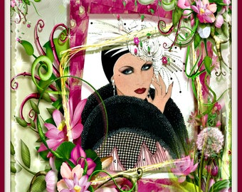 Art Deco In The Pink Greeting Card
