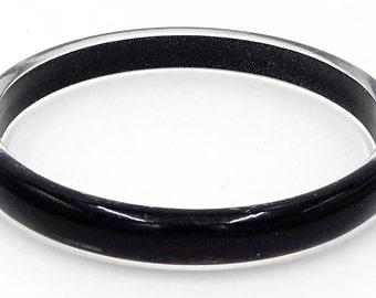 Black Clear Sparkle Bangle Bracelet