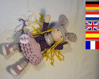 Crochet pattern for doll ALINA, pdf   (Deutsch, English, Français, Nederlands, Español)