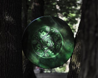 Large Shaman Drum - Frame Drum - Ritual Drum - Shaman Tools - Sacred Drum - Celtic Symbol - Shaman Healing - Rawhide Drum