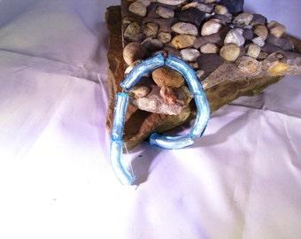 Blue Curvy Beads