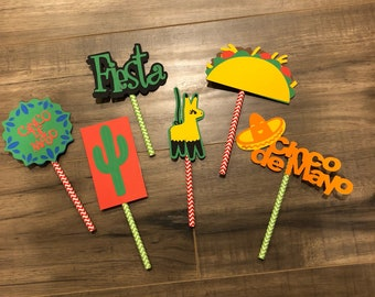 Cinco de Mayo Cupcake Toppers - Set of 30 - LINITED EDITION!!