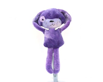 Purple Plush Dog | Stuffed Puppy Toy | Stuffed Puppy | Plush Dog | Kawaii Dog | Kawaii Puppy | Dog Doll | Puppy Doll | Gift for Her