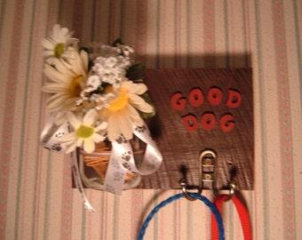 Mason Jar Ball Jar Sconce and Good Dog Leash Holder  100% donation