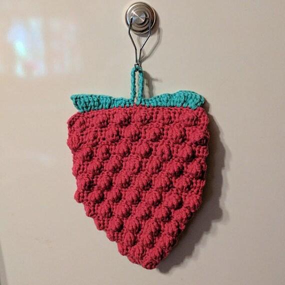 Berry heiße Erdbeere/Himbeere Topflappen häkeln
