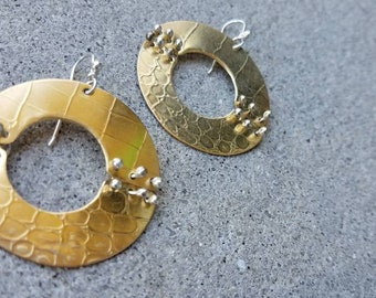 Brass Barrio Earrings, Large