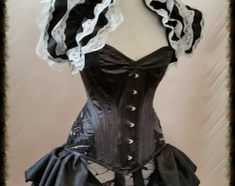 "28"" waist corset GOTHIC GLAMOUR Wedding Overbust Corset   Gothic Burlesque. Ready To Ship."