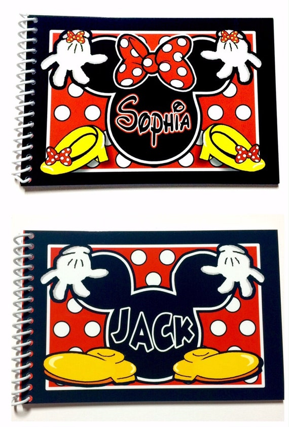 3 personnalis disney carnets d 39 autographes mickey mouse. Black Bedroom Furniture Sets. Home Design Ideas