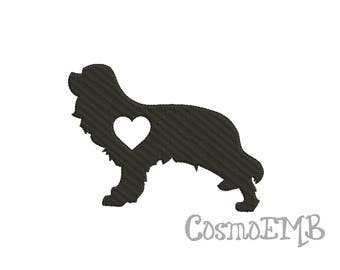 7 Size King Charles Spaniel Embroidery Applique design Machine Embroidery - Digital INSTANT DOWNLOAD