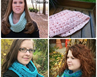 Instant Download- Crochet Pattern-Bonnie Bell Scarf