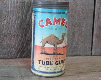 Camel Tube Gum Metal Can - Item 101