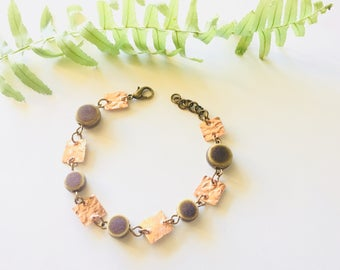 Copper and Ceramic Bracelet