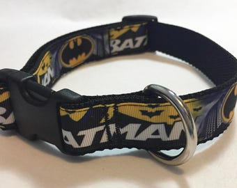 Batman Super Hero Adjustable Dog Collar