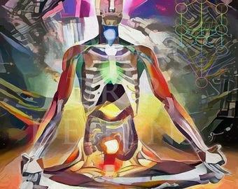 Sacred Resonance #1 Large art prints sacred visionary art Chakra Meditation Spiritual art