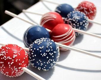 Red & Blue Cake Pops