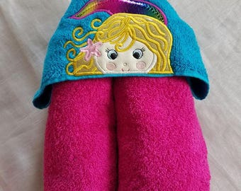 Kids Hooded Towel.Mermaid Hooded Towel,Child's Hooded Towel,Personalized Kids Hooded Towel,Hooded Bath Towel,Kids Gift,Mermaid Hooded Towel