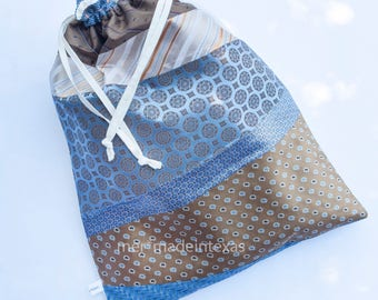 Upcycled Necktie Shoe Bag