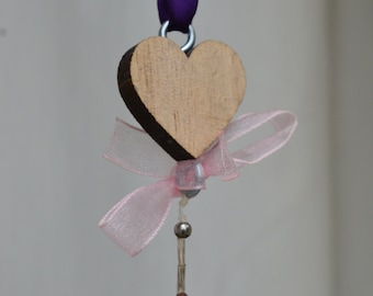 Heart Amethyst hanging decoration