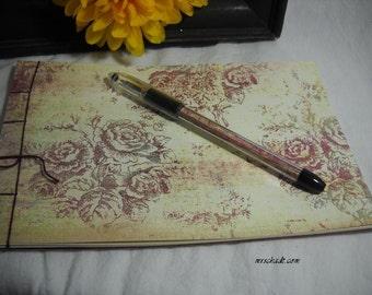 SALE Wedding Guest Book Album and Pen Set - Vintage Rose