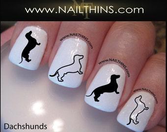 Dachshund Nail Decal Weiner Dog Nail Art  Nail Designs NAILTHINS